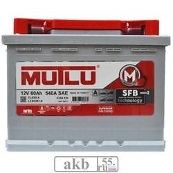 Аккумулятор 60 Mutlu SFB низкий обратный - фото 7020