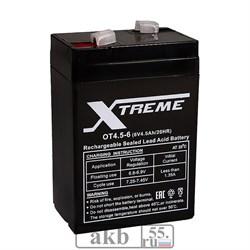 Аккумулятор 6v 4.5Ah Xtreme VRLA (OT 4.5-6) - фото 7051