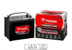 Аккумулятор 74 YUASA EFB 110D26R прямой - фото 7056