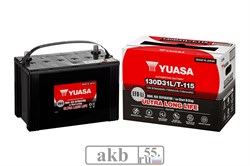 Аккумулятор 87 YUASA EFB 130D31L обратный - фото 7058