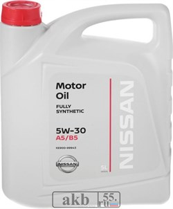 Nissan 5W-30 MOTOR OIL SAE 5L пласт. - фото 7099