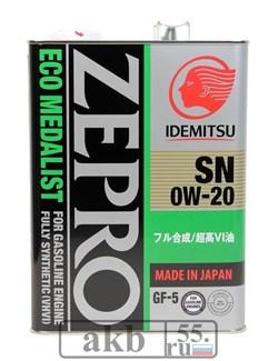 IDEMITSU Eco Medalist 0W-20 4L синт. - фото 7110