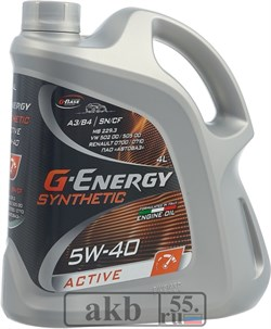 G-Energy Synthenic Active 5w-40 4л - фото 7125