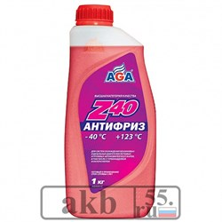 Антифриз красный AGA Z40 (-40) 1 л. - фото 7146