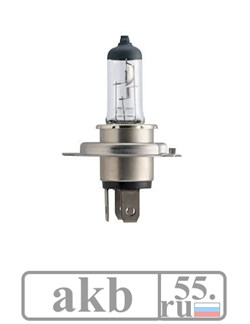 Лампа H4 12V 60/55W P43t-38 C1 +30% Vision Philips 12342PRC1 - фото 7232