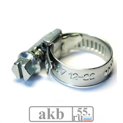 Хомут металлический 12-22 мм HAS-4980 Holex - фото 7255
