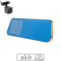 Видеорегистратор две камеры, HD 1080P, размер 31х8 см, TFT 4.3, обзор 120° - фото 7299