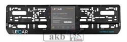 Рамка номера защелка LECAR черная - фото 7314