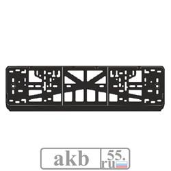 Рамка номера защелка нижн. б/надписи черная - фото 7424
