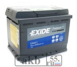 Аккумулятор 64 EXIDE Premium обратный - фото 7455
