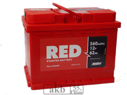 Аккумулятор 62 RED technlogy прямой - фото 7524