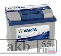 Аккумулятор 60  VartaBlue Dynamic  обратный низкий
