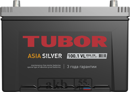 Аккумулятор 100.1 TUBOR Азия Silver прямой