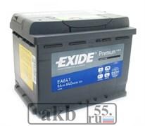 Аккумулятор 64 EXIDE Premium прямой