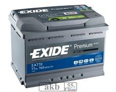 Аккумулятор 77 EXIDE Premium обратный