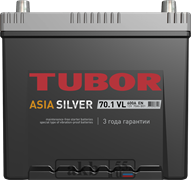 Аккумулятор 70.1 TUBOR Азия SILVER борт прямой