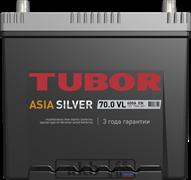 Аккумулятор 70.0 TUBOR Азия SILVER борт обратный