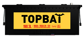 Аккумулятор 190.3 TOPBAT обратный