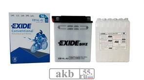 Аккумулятор 14Ah EXIDE Moto 145a  (EB14L-A2)