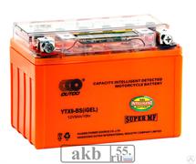Аккумулятор 12v 10Ah Moto Xtreme UTX10 (YTX9)-BS iGEL прямая