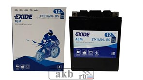 Аккумулятор 12v 12Ah EXIDE Moto AGM 210a (ETX14AHL-BS)