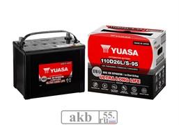 Аккумулятор 74 YUASA EFB 110D26L обратный