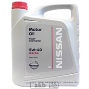 Nissan 5W-40 MOTOR OIL SAE 5L пласт.